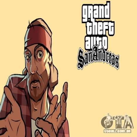 HD tela de carregamento e menu para GTA San Andreas
