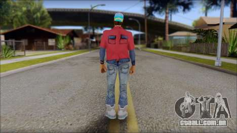 Marty from Back to the Future 2015 para GTA San Andreas segunda tela