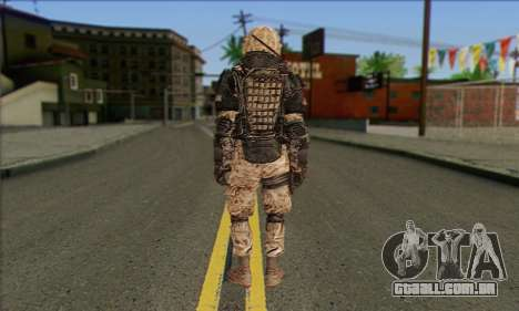 Task Force 141 (CoD: MW 2) Skin 15 para GTA San Andreas segunda tela