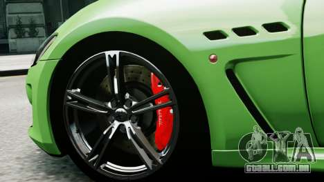 Maserati Gran Turismo MC Stradale 2014 para GTA 4 traseira esquerda vista