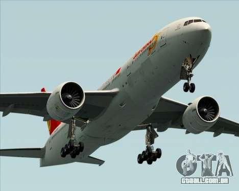 Boeing 777-200ER Air China para as rodas de GTA San Andreas