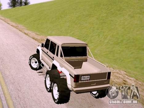 Benefactor Dubsta 6x6 para GTA San Andreas esquerda vista