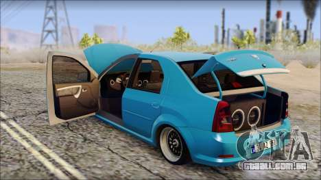 Dacia Logan BS GARAGE para GTA San Andreas vista direita