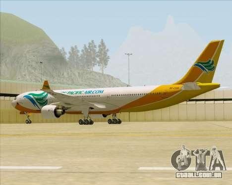 Airbus A330-300 Cebu Pacific Air para GTA San Andreas vista traseira
