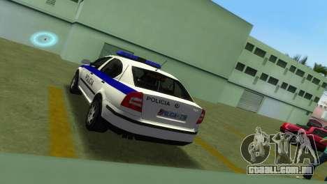 Skoda Octavia Albanian Police Car para GTA Vice City vista traseira