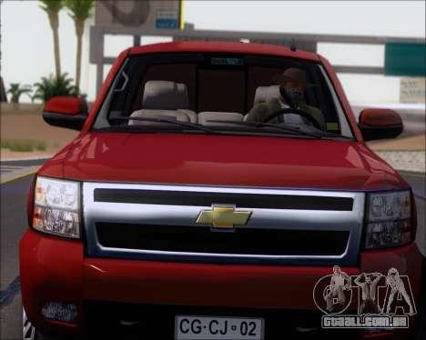 Chevrolet Silverado 2011 para GTA San Andreas vista traseira