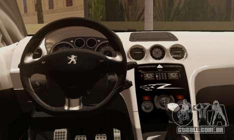 Peugeot RCZ GTS 2010 Tuned v2.0 para GTA San Andreas traseira esquerda vista