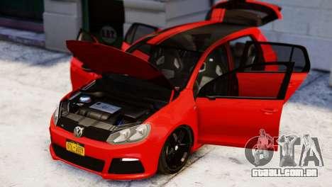 Volkswagen Golf R 2010 Racing Stripes Paintjob para GTA 4 vista direita