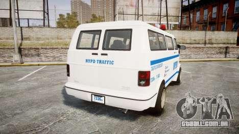 GTA V Bravado Youga NYPD para GTA 4 traseira esquerda vista