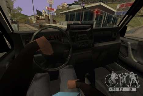 Benefactor Dubsta 6x6 para GTA San Andreas traseira esquerda vista