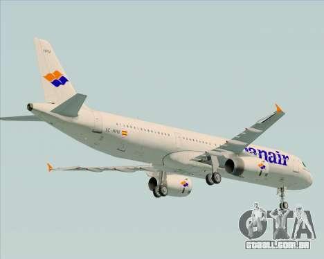 Airbus A321-231 Spanair para GTA San Andreas vista traseira