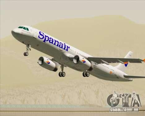 Airbus A321-231 Spanair para as rodas de GTA San Andreas