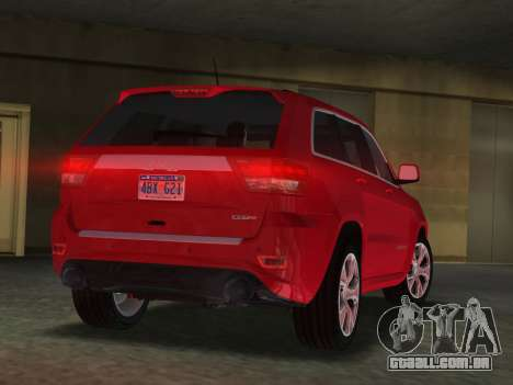 Jeep Grand Cherokee SRT-8 (WK2) 2012 para GTA Vice City deixou vista