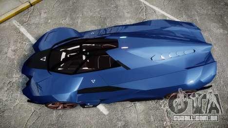 Lamborghini Egoista para GTA 4 vista direita