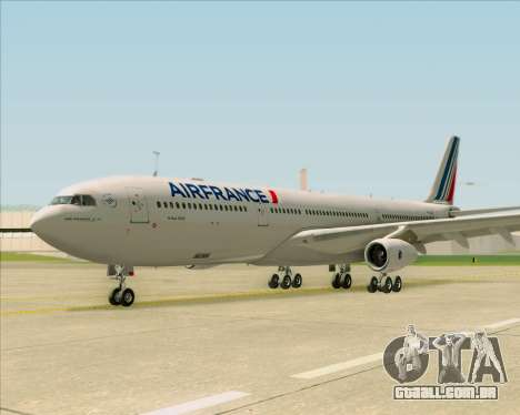 Airbus A340-313 Air France (New Livery) para GTA San Andreas vista interior