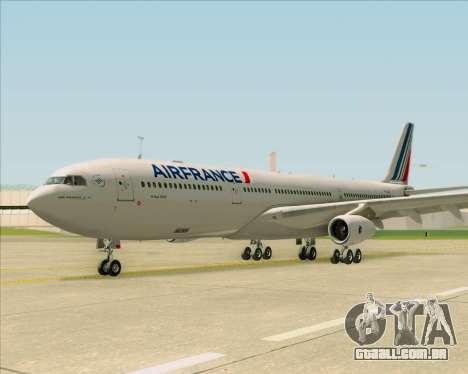 Airbus A340-313 Air France (New Livery) para GTA San Andreas vista interior