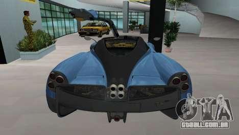 Pagani Huayra 2012 para GTA Vice City deixou vista