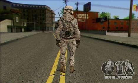 Task Force 141 (CoD: MW 2) Skin 5 para GTA San Andreas segunda tela