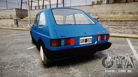 Fiat 147 Spazio-TR para GTA 4 traseira esquerda vista