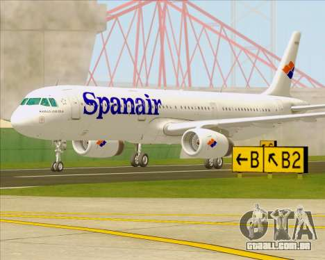 Airbus A321-231 Spanair para GTA San Andreas vista direita