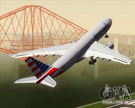 Airbus A330-200 American Airlines para as rodas de GTA San Andreas