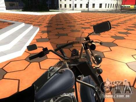 Harley Davidson Road King para GTA San Andreas vista traseira