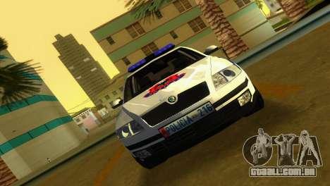 Skoda Octavia Albanian Police Car para GTA Vice City vista traseira esquerda