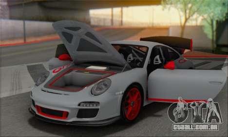 Porsche 911 GT3 2010 para GTA San Andreas vista inferior