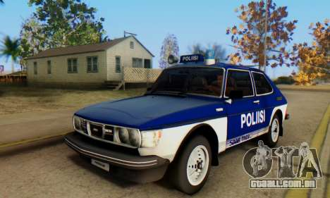 Saab 99 Turbo 1978 para GTA San Andreas vista superior