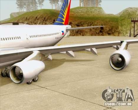 Airbus A340-313 Philippine Airlines para as rodas de GTA San Andreas