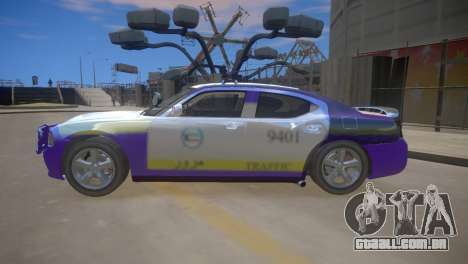 Dodge Charger Kuwait Police 2006 para GTA 4 vista de volta