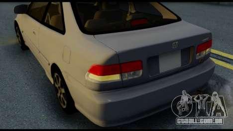 Honda Civic Si 1999 para vista lateral GTA San Andreas