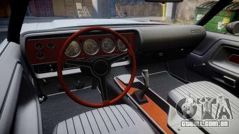 Dodge Challenger 1971 v2.2 PJ3 para GTA 4 vista de volta