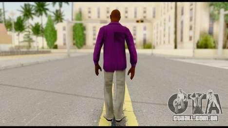Purple Shirt Vic para GTA San Andreas segunda tela