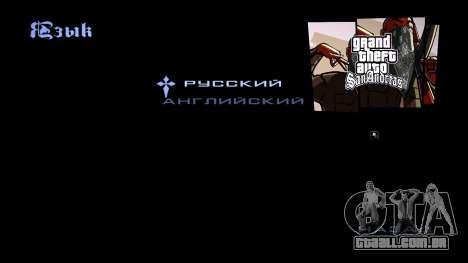 HD tela de carregamento e menu para GTA San Andreas twelth tela