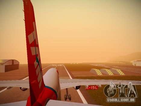 Airbus A330-200 TAM Airlines para o motor de GTA San Andreas