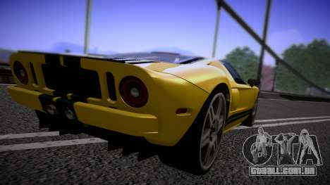 Ford GT 2005 Road version para GTA San Andreas vista direita