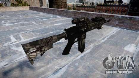 Automatic rifle Colt M4A1 kryptek typhon para GTA 4 segundo screenshot