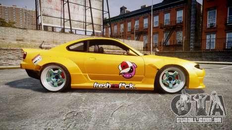 Nissan Silvia S15 Street Drift [Updated] para GTA 4 esquerda vista