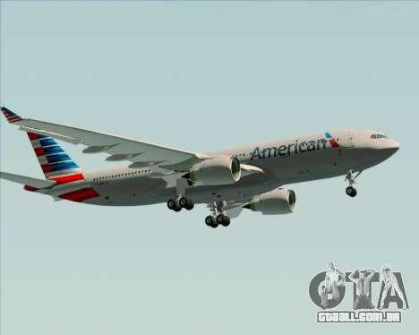 Airbus A330-200 American Airlines para GTA San Andreas vista interior