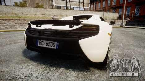 McLaren 650S Spider 2014 [EPM] Bridgestone v3 para GTA 4 traseira esquerda vista