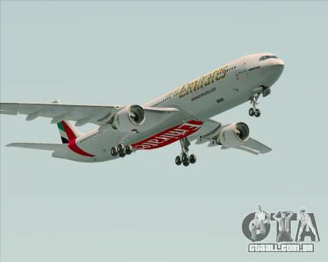 Airbus A330-300 Emirates para GTA San Andreas vista interior