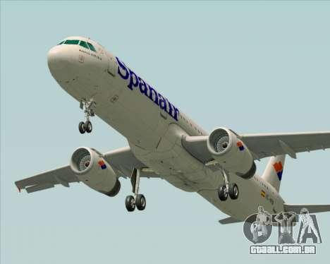 Airbus A321-231 Spanair para GTA San Andreas vista inferior