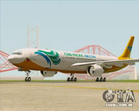 Airbus A330-300 Cebu Pacific Air para GTA San Andreas esquerda vista