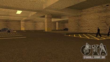 Novas texturas parque de Estacionamento da LSPD para GTA San Andreas por diante tela