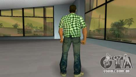 Kockas polo - zold T-Shirt para GTA Vice City terceira tela