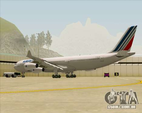 Airbus A340-313 Air France (New Livery) para GTA San Andreas vista direita