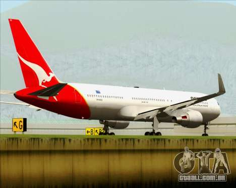 Boeing 767-300ER Qantas para GTA San Andreas traseira esquerda vista