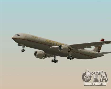 Airbus A330-300 Etihad Airways para GTA San Andreas vista interior
