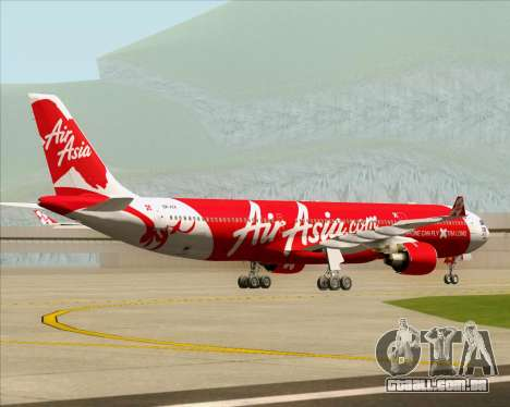 Airbus A330-300 Air Asia X para GTA San Andreas vista traseira